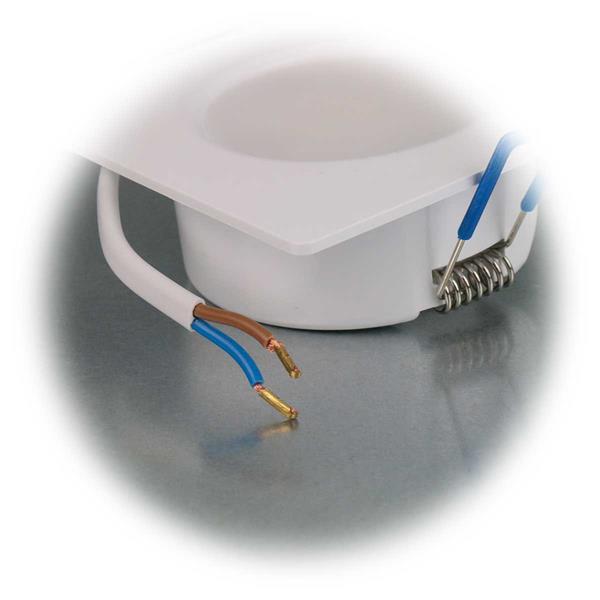 LED Downlight mit top modischer Optik mit Kunststoffgehäuse