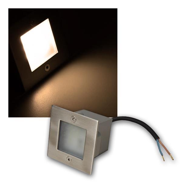 LED-Einbauleuchte LER-9WW, warmweiß, 70x70mm