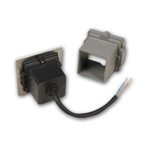LED Einbauspot eckig mit Einbaurahmen und Befestigungsmaterial