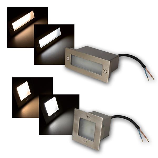 LED Wandeinbauleuchten McShine Quadrat/Rechteck