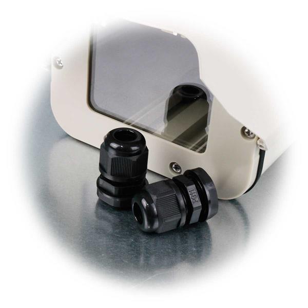 Wetterfestes Kameragehäuse mit Kameralaufschiene