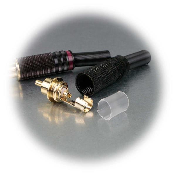 Steckverbinder zum Anschluss von Kabeln an hochwertige Komponenten im Audiobereich