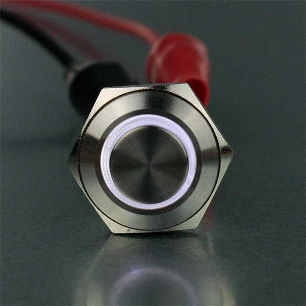 Taster mit weißer LED Beleuchtung, Spannung 4 bis 12V