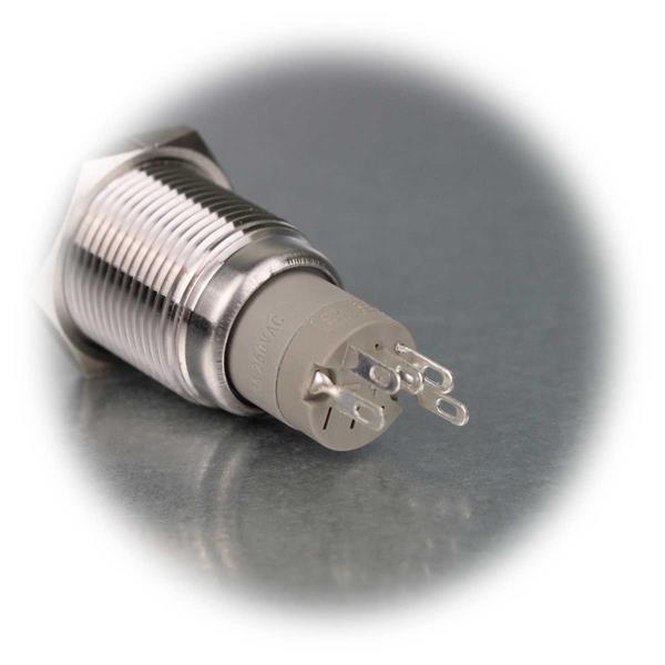 Metalltaster Öffner/Schließer mit Lötanschluss für Kabel
