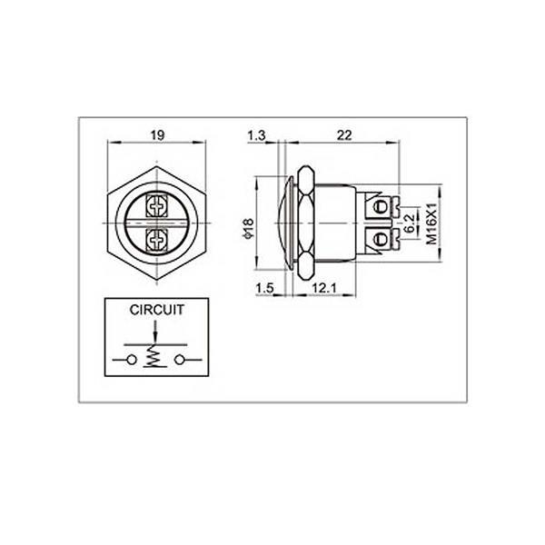 Schaltplan für Metalltaster Dome