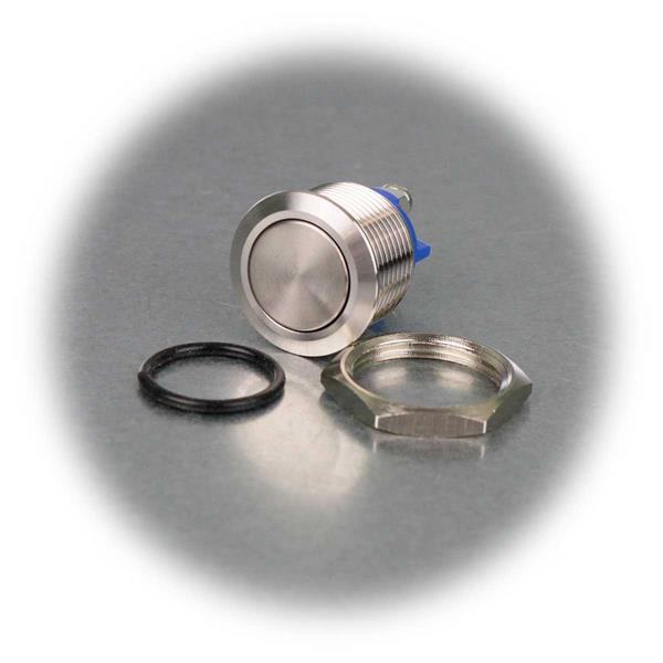 Metalltaster als Schließer inkl. Befestigungsmaterial