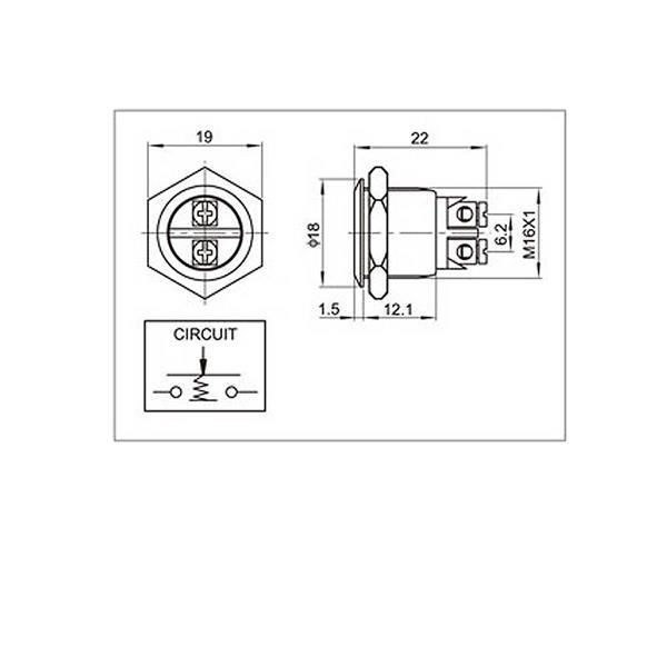 Anschlussplan für flachen Metalltaster