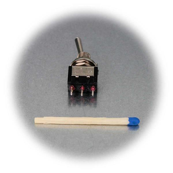 1-poliger Mini-Kipptaster als Schließer/ Öffner