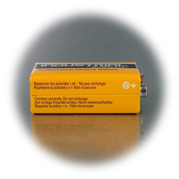 6LR61 Duracell Blockbatterie mit extrem langer Ausdauer