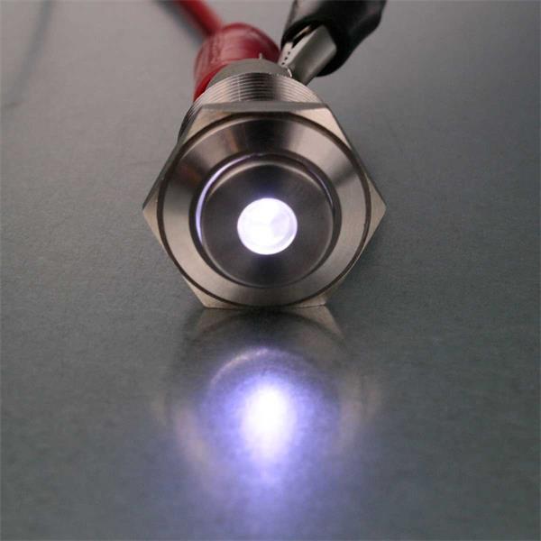Punktbeleuchteter Vollmetalltaster