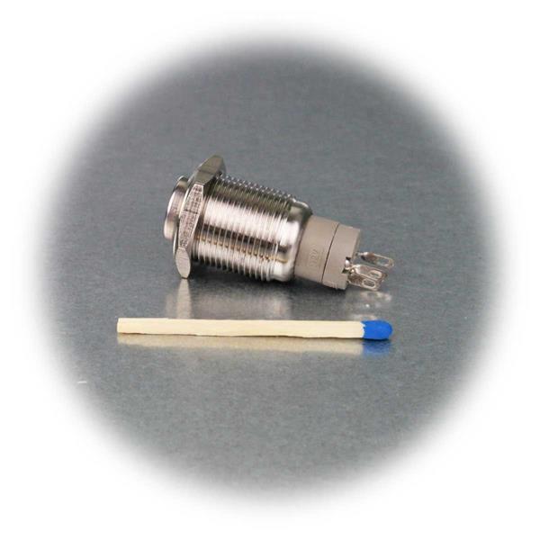 Vollmetalltaster mit weißer 12V LED Punktbeleuchtung