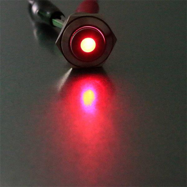 Rot beleuchteter Vollmetalltaster