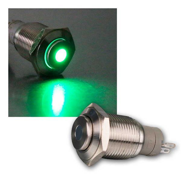 Metalltaster mit Punktbeleuchtung grün, 16mm