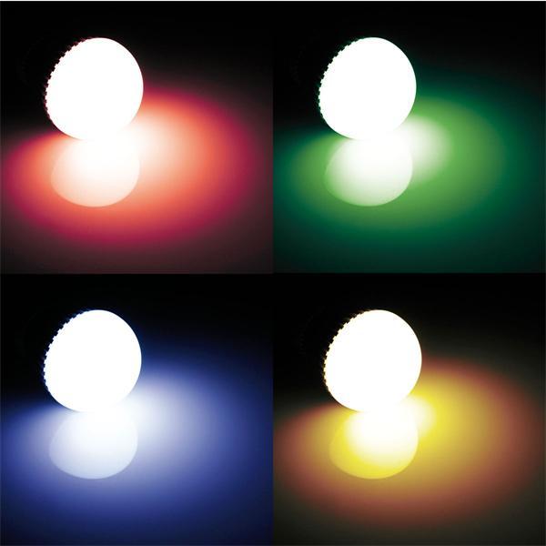 RGB LED Leuchtmittel mit 120° Abstrahlwinkel und außergewöhnlichem Farbenspiel