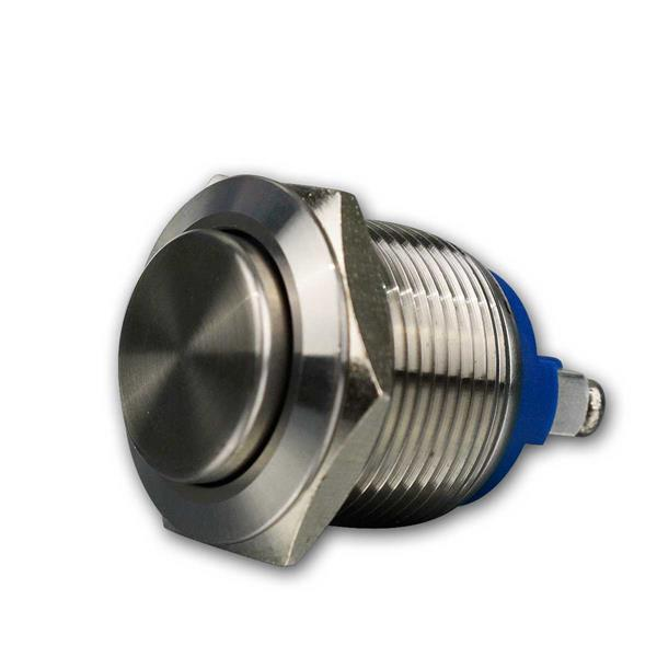 Metalltaster 19mm, Schliesser, Edelstahl, IP67