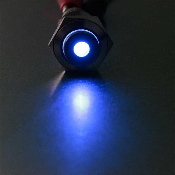 Hochwertiger Metallschalter mit blauer Punktbeleuchtung