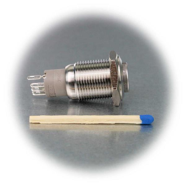 Ø16mm Edelstahlschalter mit LED-Beleuchtung