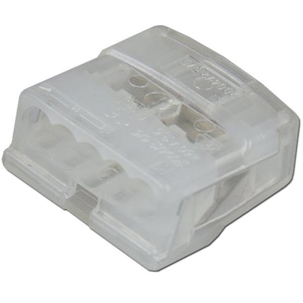 transparente Steckklemmen für Kupferleiter von 1,0-2,5mm²