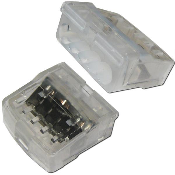 Verbindungsklemmen für die Elektroinstallation, 5-polig
