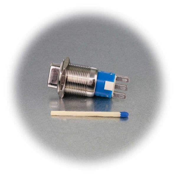 Zweipoliger Metalldrehschalter für max. 250V AC/ 3A