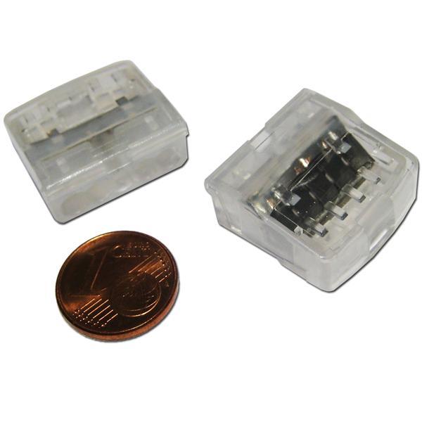 Leuchtenklemmen mit transparentem Kunststoffgehäuse