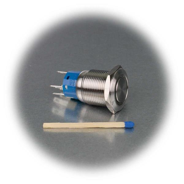 Vollmetall-Taster mit Ringbeleuchtung in 4 Farben