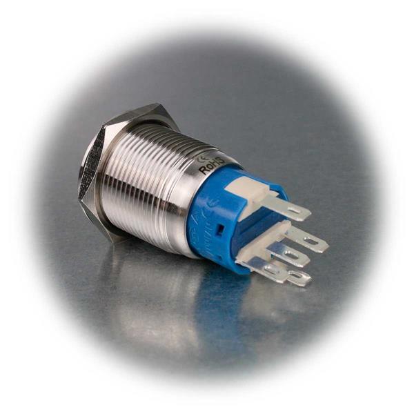 1-poliger Metalltaster mit Beleuchtung