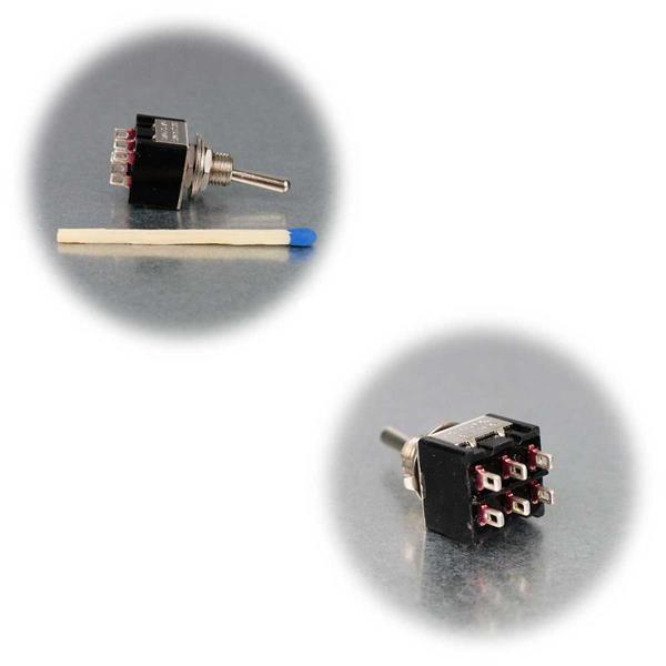 Miniatur-Kipptaster mit Lötanschlüssen