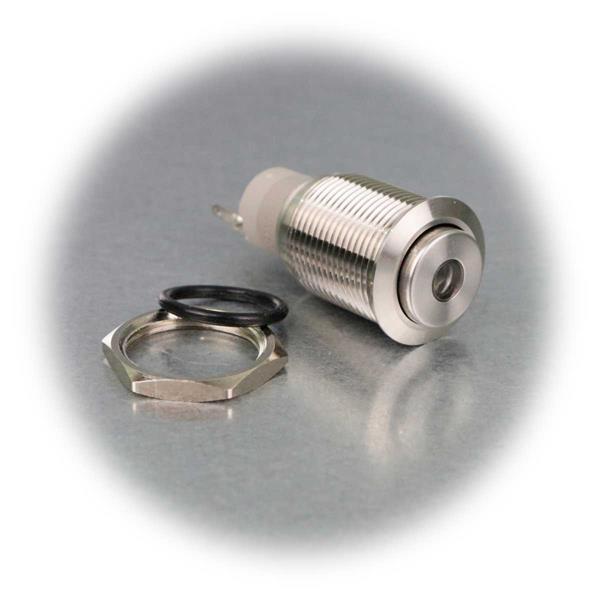 Metallschalter mit verschiedenfarbiger Punktbeleuchtung