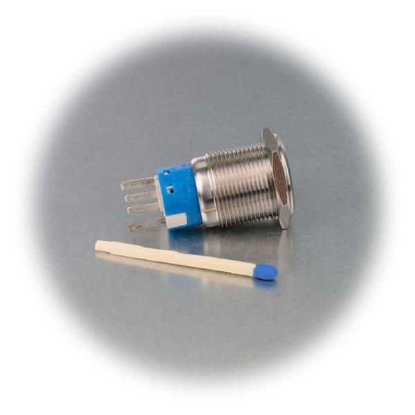 Metallschalter mit verschiedenfarbiger Ringbeleuchtung