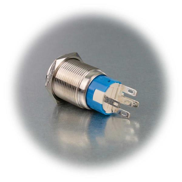 Metallschalter Ø19mm mit Ringbeleuchtung in mehreren Farben