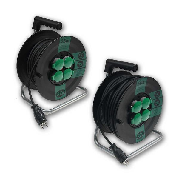 kabeltrommel 25m 50m kabel f r au en ip44 1 5mm. Black Bedroom Furniture Sets. Home Design Ideas