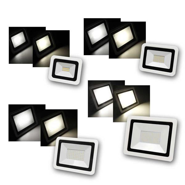 LED Fluter McShine, SMD-Slim, IP44, warm/neutral