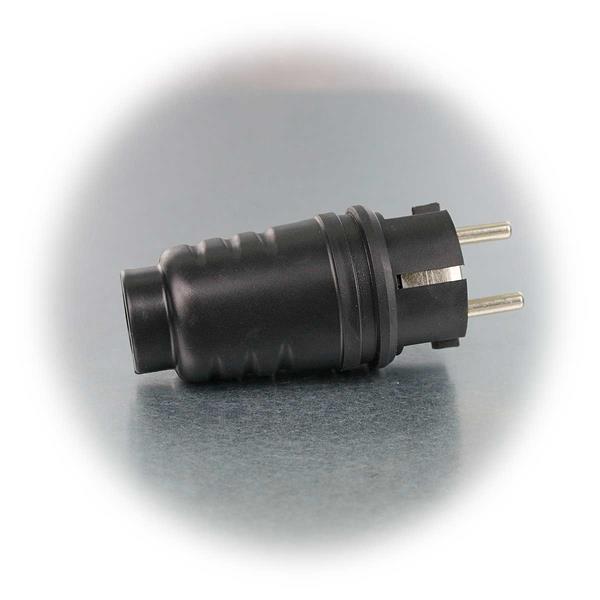 Schutzkontakt-Gummistecker für Betrieb an 250V/16A