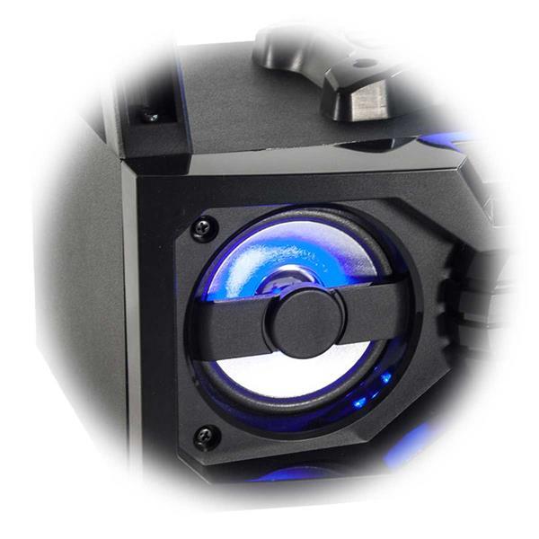 Bluetooth-Soundbox mit Akku und Tragegriffen