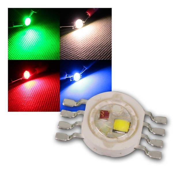 """Highpower LED 4x1W RGBW, Typ """"WTN-1W-RGBW"""""""