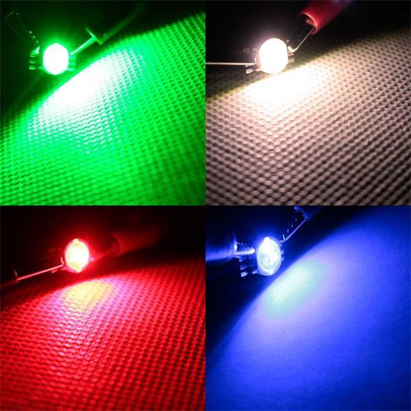 1W LED-Chip, der rot, blau, grün oder warmweiß leuchtet