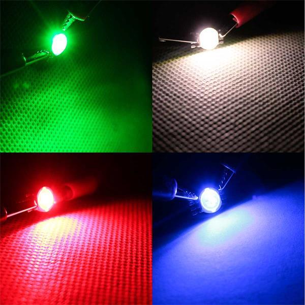 3W Highpower LED, die rot, grün, blau oder warmweiß leuchtet
