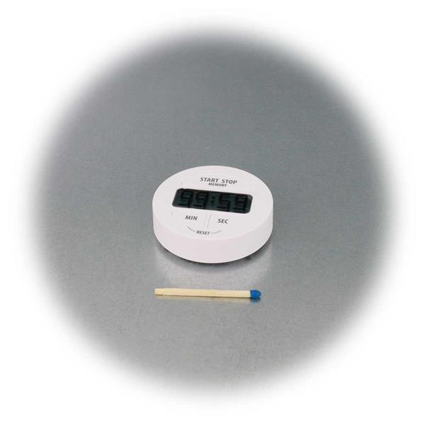 Digitale Eieruhr in weiß mit Stoppuhr & Memoryfunktion