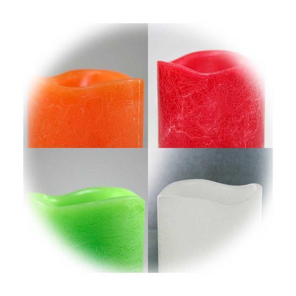 LED-Kerzen mit Timer in 4 verschiedenen Farben