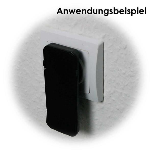 Schwarzer Schutzkontakt-Winkelstecker