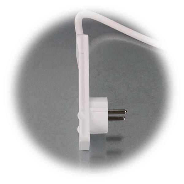 250V-Schutzkontakt-Flachstecker