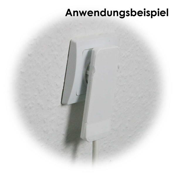 Super flacher Schutzkontakt-Winkelstecker