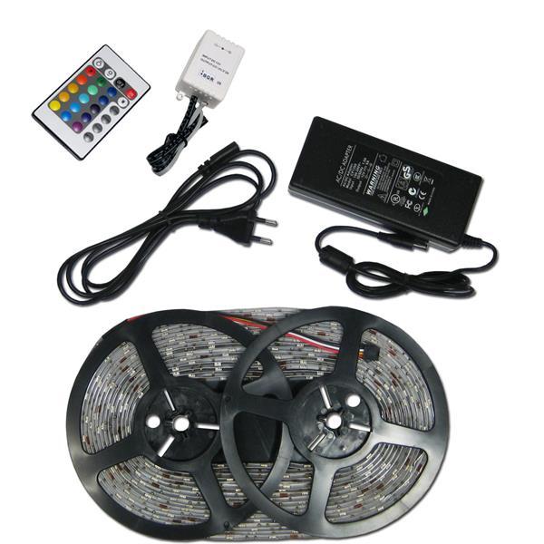 LED-Leiste RGB-Komplettset, 300 SMD RGB 10m Länge