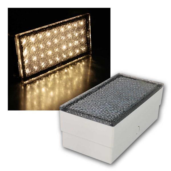 LED Bodenleuchte Pflasterstein 20x10, warmweiß