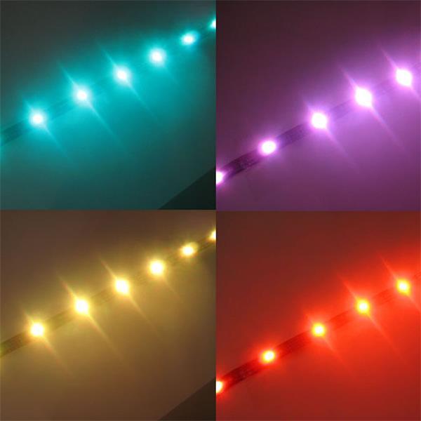 kürzbare LED Beleuchtung mit steuerbaren Farben per IR-Fernbedienung