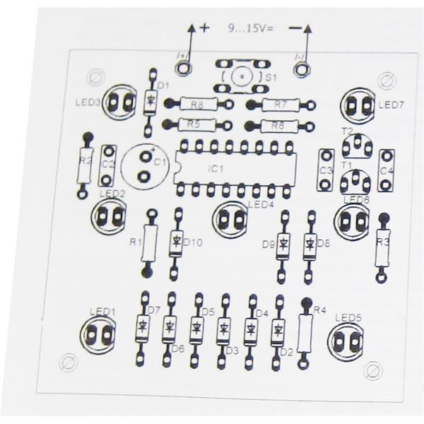 Aufbauanleitung für elektronischen Würfel, ideal für Anfänger