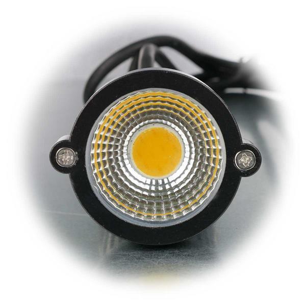 LED Außenstrahler mit warmweißer COB LED für Lichtakzente