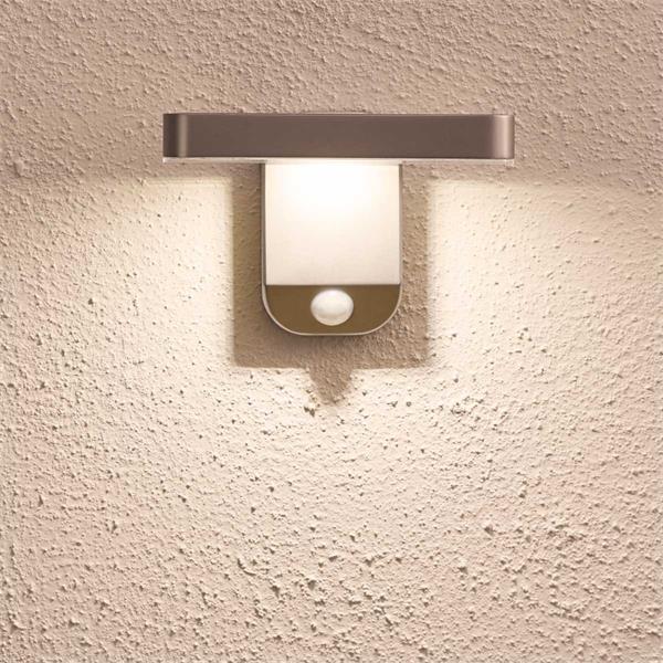 LED Außenwandleuchte mit Dämmerungssensor und Bewegungsmelder