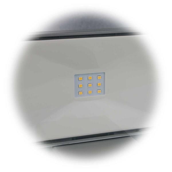 LED Solar Außenleuchte mit 9 warmweißen SMD LEDs